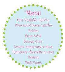 baby shower food ideas baby shower menu ideas brunch