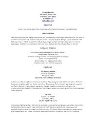 flight attendant resume generic corporate flight attendant resume