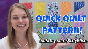 quick and easy sixty slice quilt tutorial free quilt pattern by