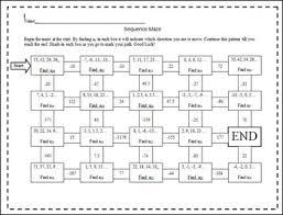 arithmetic sequence maze by amber frank teachers pay teachers