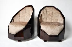 art deco style pair of art deco style cocoon chairs furniture