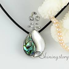 wholesale shell necklace images White oyster shell rainbow abalone shell necklaces pendants jpg