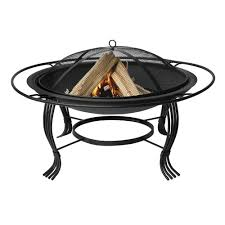 Firepit Rings Uniflame 30 In Black Pit With Outer Ring Wad1050sp The