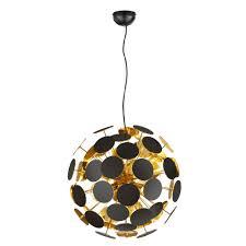 Schlafzimmer Lampe Gold Luxus Hänge Decken Leuchte Esszimmer Strahler Pendel Lampe Schwarz