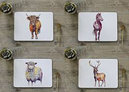 placemats co uk british country life placemats set 1 animals