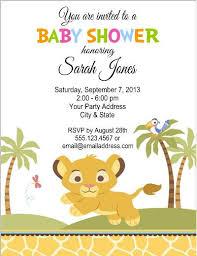 lion king baby shower lion king baby shower invitation templates cloveranddot