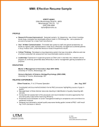 effective resume exles simple effective resume resume for study