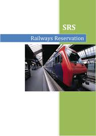 srs for railway reservation system