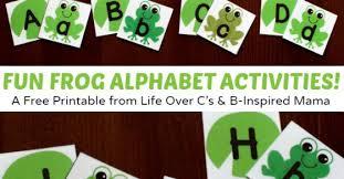 free frog printable alphabet activities