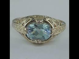 circa 1920 u0027s vintage 2 75 ct art deco aquamarine ring solid 14k
