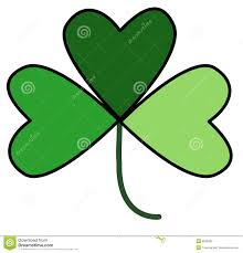 shamrock in three shades of green stock photography image 8236282