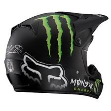 monster motocross helmets fox racing v3 rc monster matte helmet