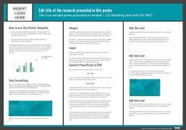 poster presentation ppt template presentation poster templates