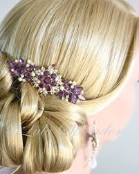 hair comb accessories vintage amethyst wedding hair comb purple wedding hair accessories