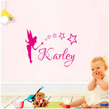 compare prices on names wall art online shopping buy low price dctop customized name wall art decals magic wand fairy wall stickers home decor for kids room