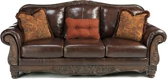 Leather Sofa Wooden Frame Leather And Wood Sofa Sofas