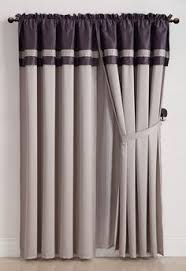 Grey And Purple Curtains Overstock This Soft Heavy Pile Blackout Velvet Curtain Has A