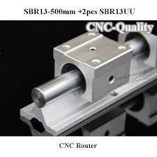 Super Cnc guia Linear Linear Rail eixo 500 mm de SBR13 Linear bloco  @KQ05