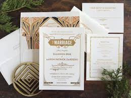 gatsby wedding invitations gatsby wedding invitation letterpress wedding invitation