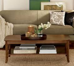 Coffee Table Decorations Coffee Table Decor Contained By Tray Neutrals Green Living Room