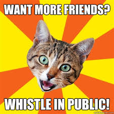 Whistle Meme - want more friends whistle in public cat meme cat planet cat planet
