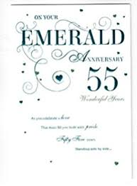 55th wedding anniversary 55th wedding anniversary greetings card emerald anniversary