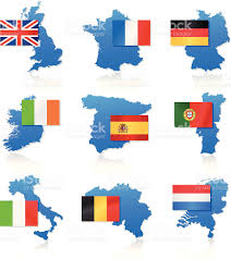 Europe Flag Map by Flag And Map Icons Western Europe Stock Vector Art 165800841 Istock