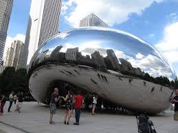 The Bean Chicago Map by File Cloud Gate The Bean Millennium Park Chicago Illinois