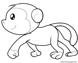 spider monkey coloring page 16487