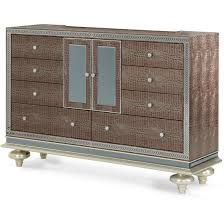 Hollywood Swank Bedroom Furniture Aico Michael Amini Hollywood Swank Upholstered Dresser In Amazing