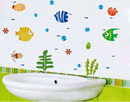 online get cheap tropical wall decals aliexpress com alibaba group new fashion tropical fish bubble wall sticker kids room nursery kitchen bathroom wall decal china