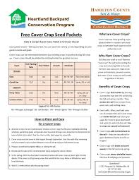 free cover crop seed hamilton county soil and water conservation