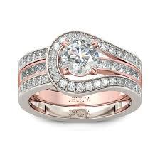 Jareds Wedding Rings by Jeulia Herakles Two Tone Round Cut White Sapphire Enhancer Wedding