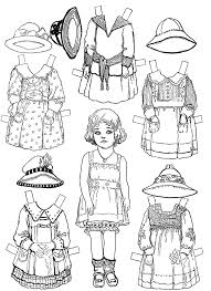 paper doll coloring pages 50 additional seasonal