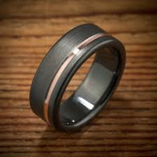 black zirconium wedding bands black and gold wedding bands design of nathan mcpherson