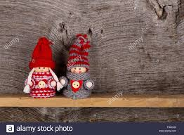 nordic decoration small children christmas winter puppet figures red grey nordic