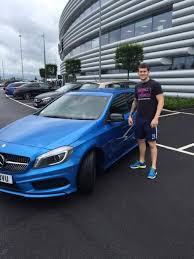mercedes in manchester manchester city fc player billy obrien with his mercedes