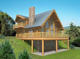 Home Plans With Basements 14 Log Home Plans With Basement 2060 Sqft Pacific Northwest Style