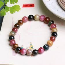 multi color stone bracelet images Joursneige natural tourmaline stone bracelet 7mm beads bracelets jpg