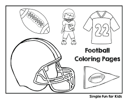 football coloring page get ready for the football season with