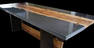 concrete and wood outdoor table concrete and wood table by keelin kennedy concrete exchange