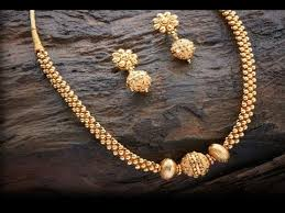 small necklace designs images Small golden balls necklace designs jpg