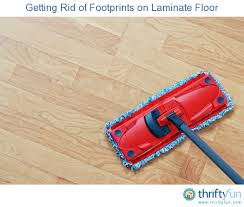 cleaning of footprints on laminate floor
