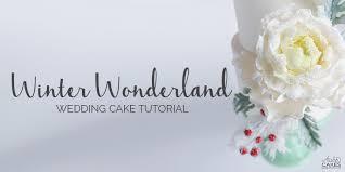 wedding cake tutorial winter cake tutorial