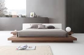 opal modern walnut u0026 white platform bed