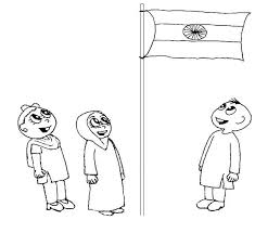 coloring pages of independence day of india india flag printable coloring page for kids