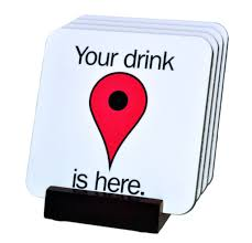 Map Pin Google Map Pin Coasters With Display Holder U2013 Neurons Not Included