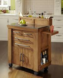 cool rustic style portable kitchen island natural finish stainless
