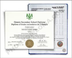 ontario canada fake high fake diploma and fake transcript