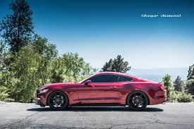 Black Red Mustang 2015 Ford Mustang Fitted With 22 Inch Bd 1 U0027s In Two Tone Black